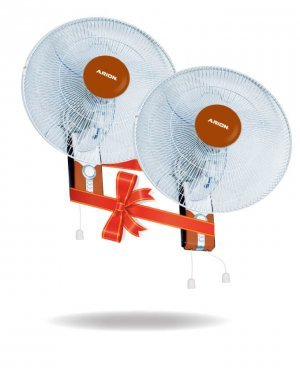 ARION Boeing Wall mount fan set of 2