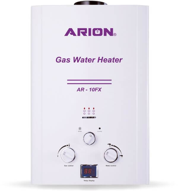 Arion Digital Gas Water Heater 10L, White
