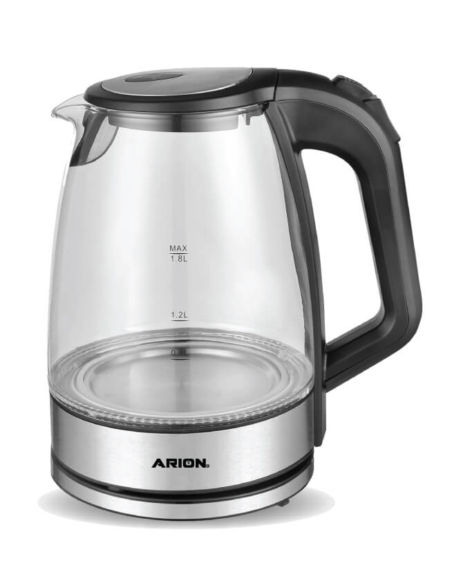 ARION Glass Kettle 1.8L WJ-601-43A, Black
