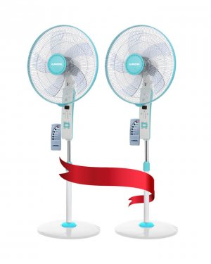 ARION Turbo Stand Fan with remote control set of 2